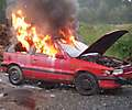 Übung Fahrzeugbrand